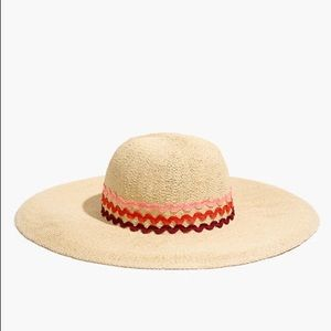 Madewell Floppy Straw Hat with Detail